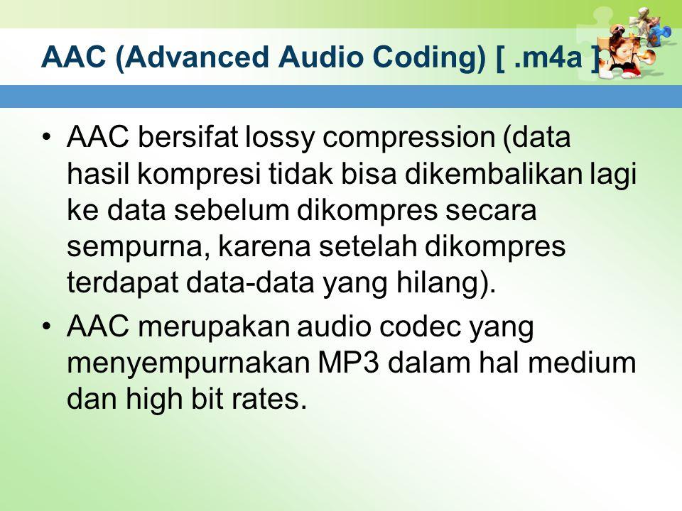 AAC (Advanced Audio Coding) [ .m4a ]